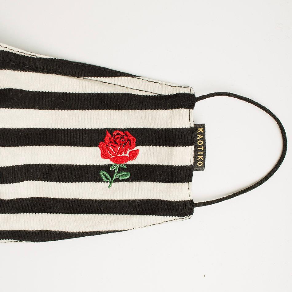 Rose Stripes Face Mask