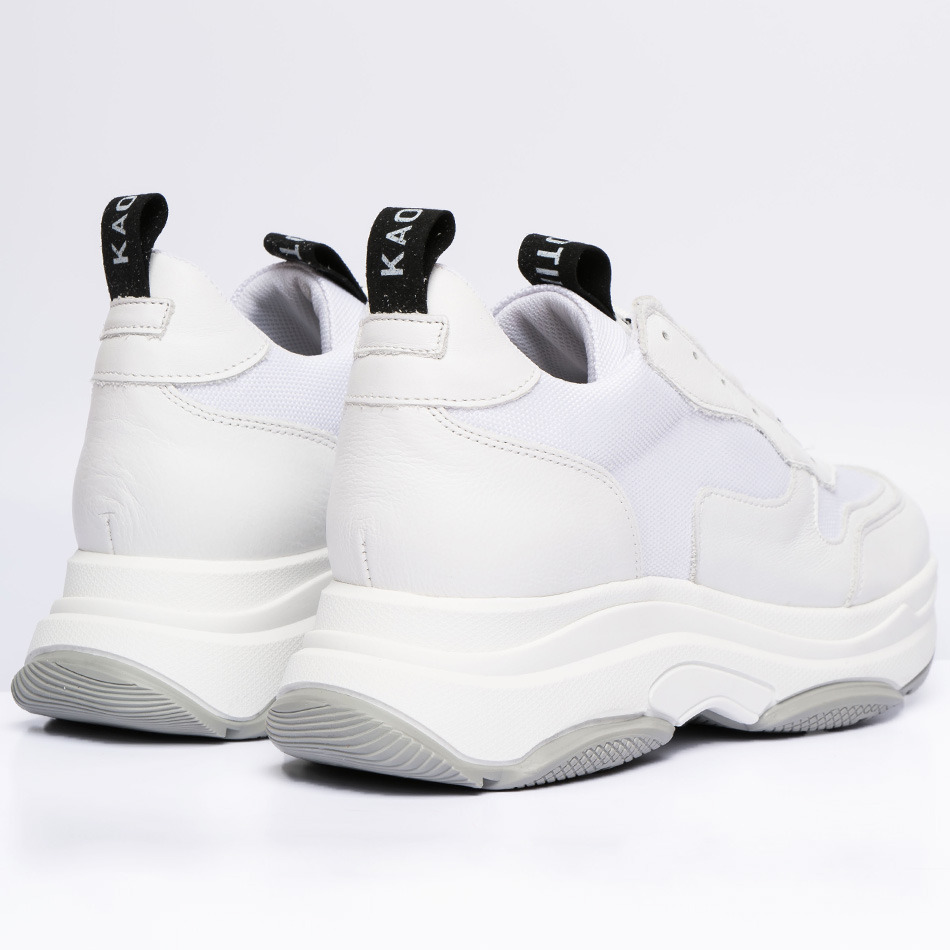 white leather daddy shoes