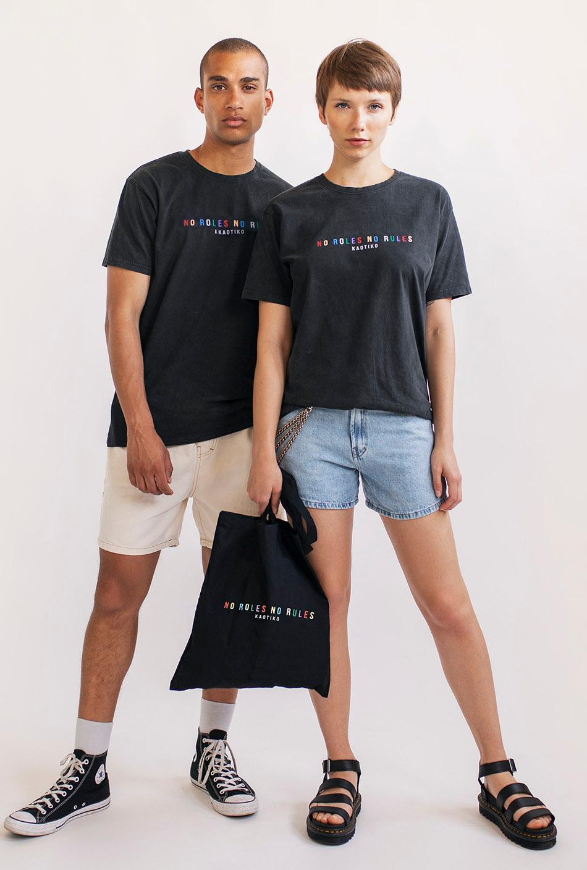 """""""No Rules No Roles"""" Pride T-Shirt"""