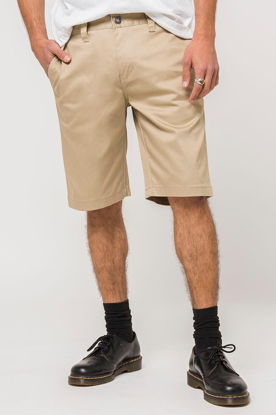 work beige short