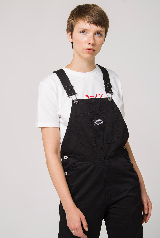 Jeans-Latzhose schwarz