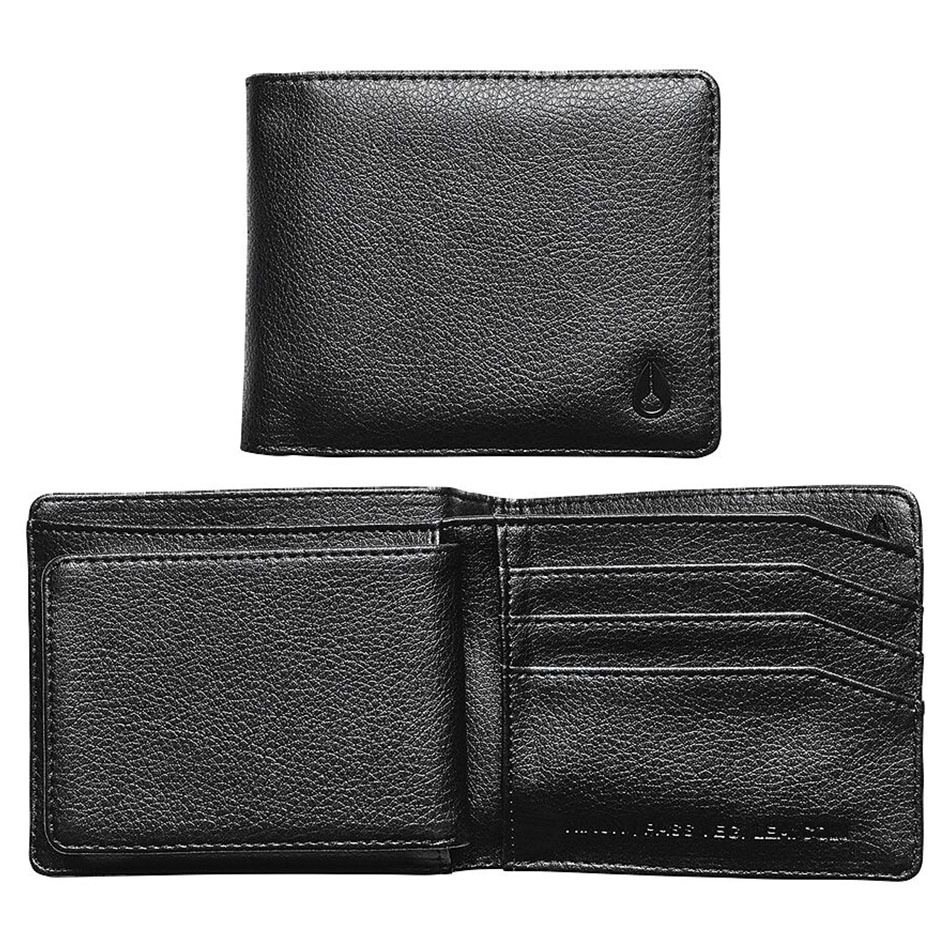 Cartera Nixon Pass Vegan Leather Coin Black