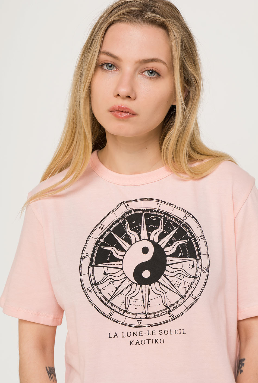 Camiseta Yin Yang melocotón