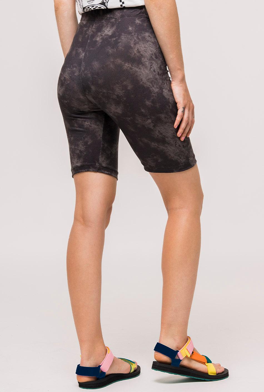 Black tie-dye legging short
