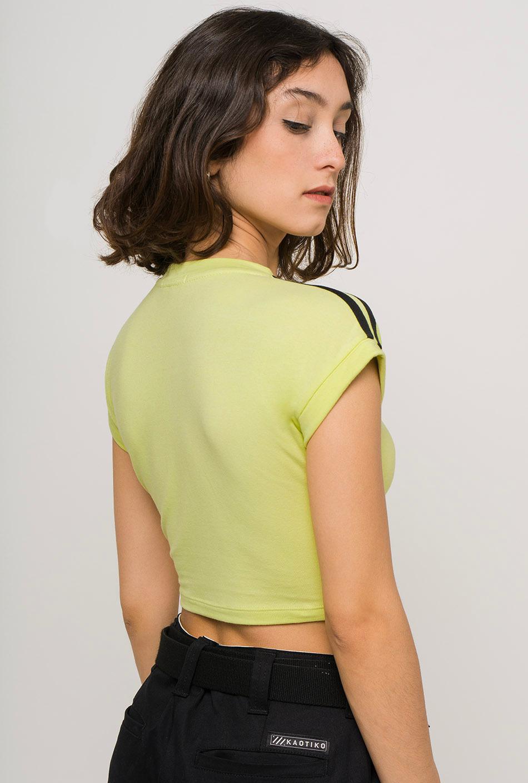 Lime crop top