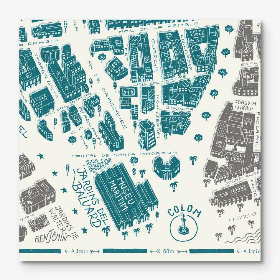 Barcelona-Raval Map
