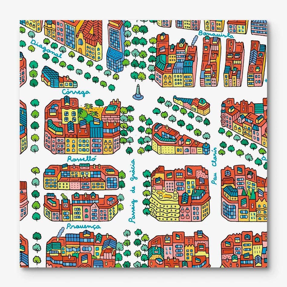 Barcelona-Eixample Map