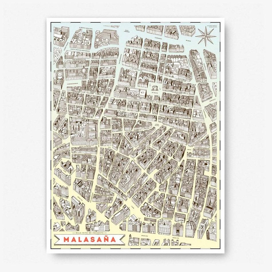 Mapa Madrid-Malasaña