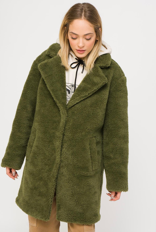 Urban Classics Sherpa Coat Olive