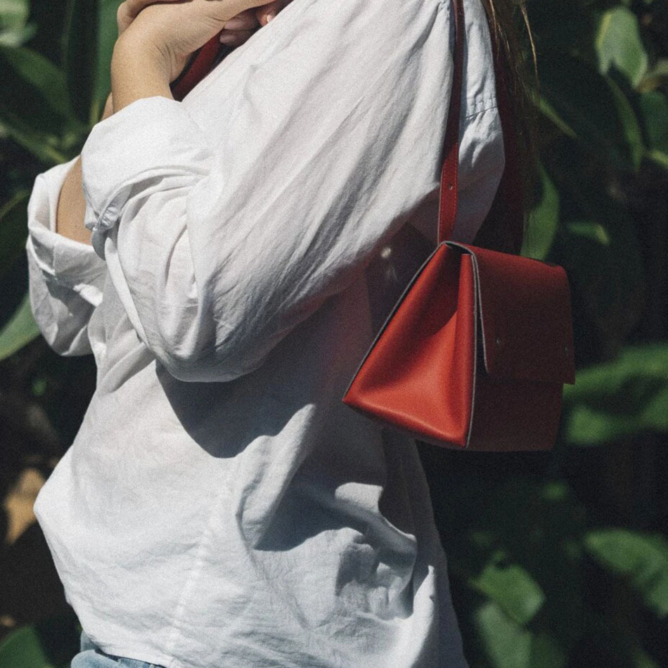 Triangle Bucket Red Bag