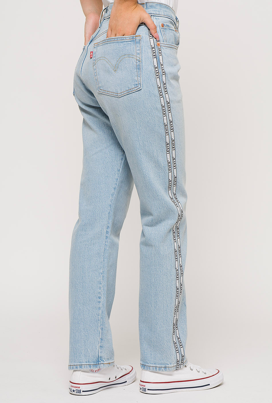 Levi's 501 crop jeans denim