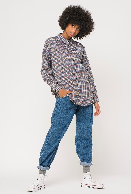 Kaotiko Indigo Plaid Shirt