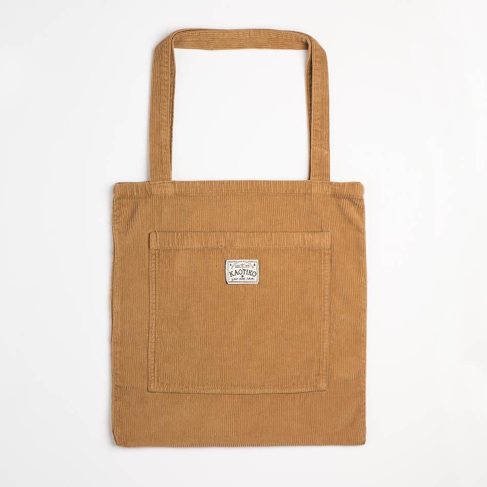 Tote Bag Corduroy Brown