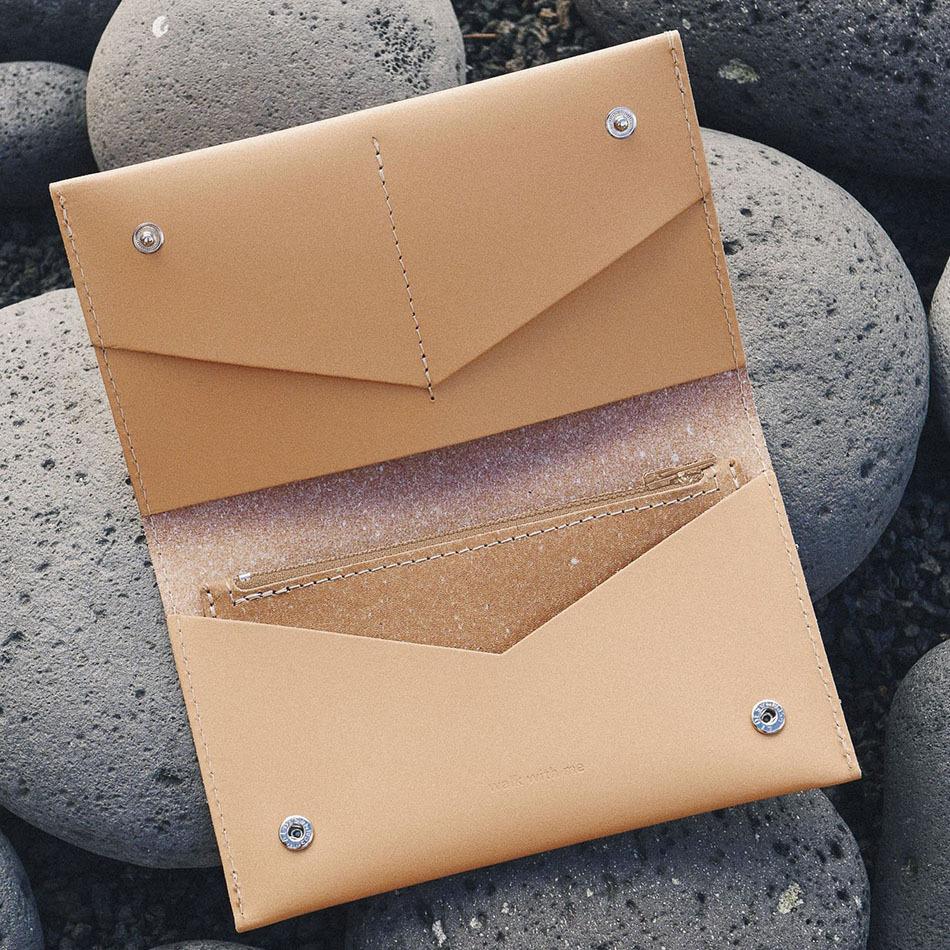 Flat Purse Camel Bag