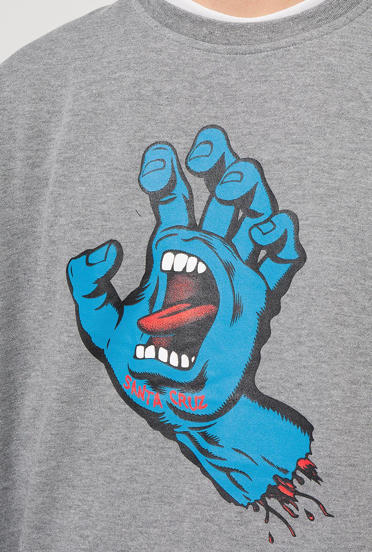 Santa Cruz Screaming Hand Crew dark heather