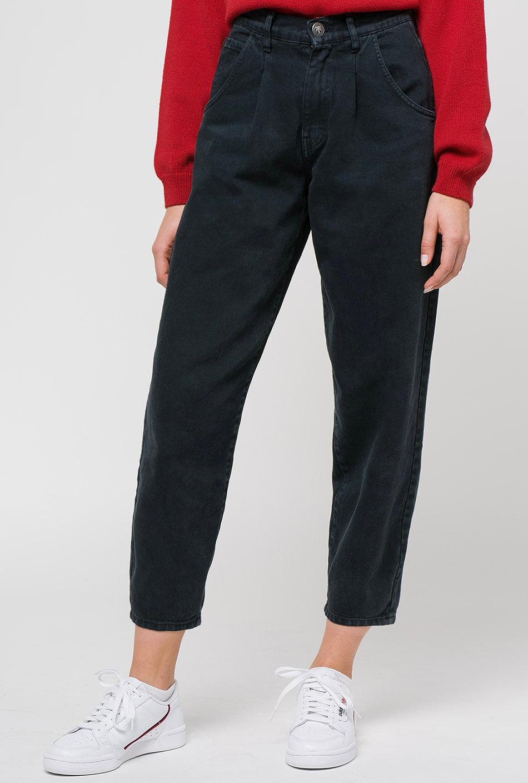Pantalones Kaotiko Globo Pinzas Black Pantalones Mujer Kaotiko