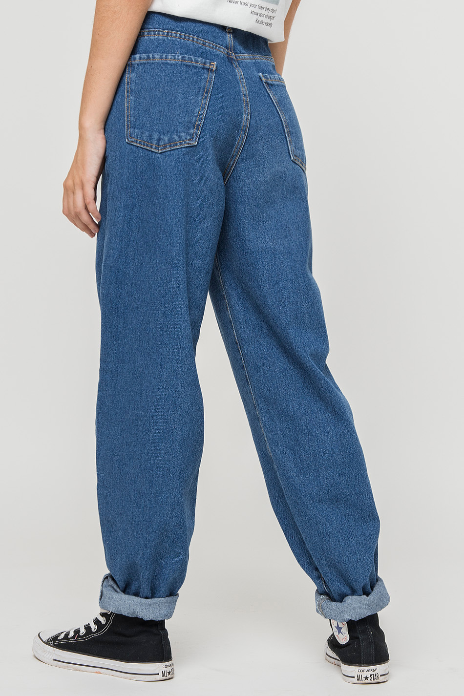 Slouchy Denim Tweezers Trousers