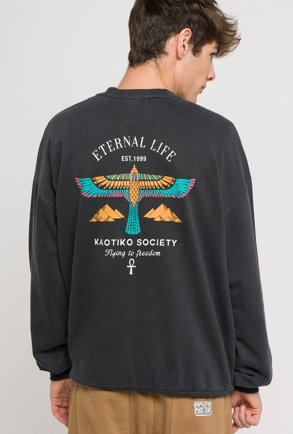 Eternal tie-dye black sweatshirt