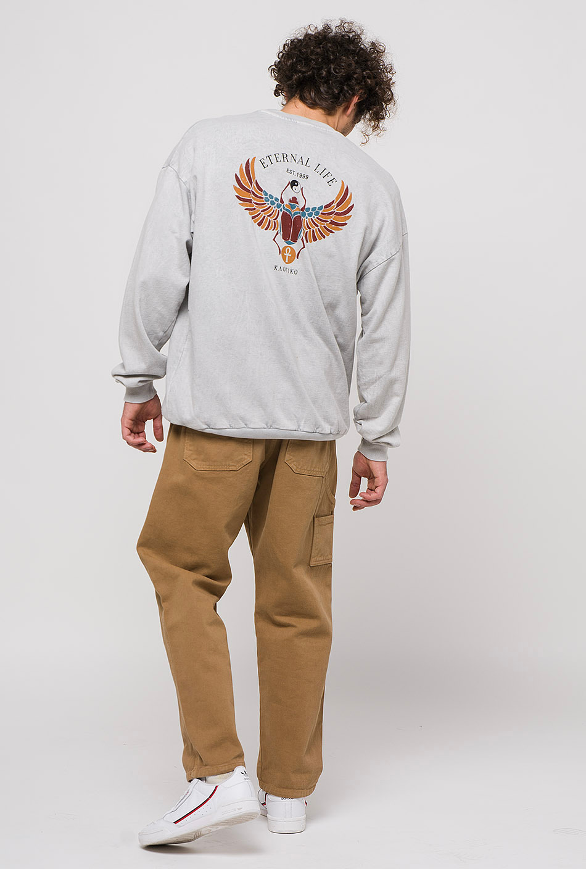Escarabeo Tie-dye Grey Sweatshirt
