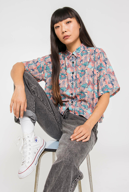Camisa Polinesia Rosa