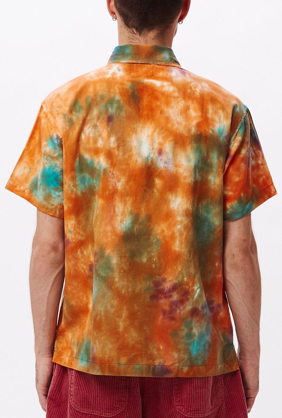 Obey Drops Polohemd in Orange/Bunt