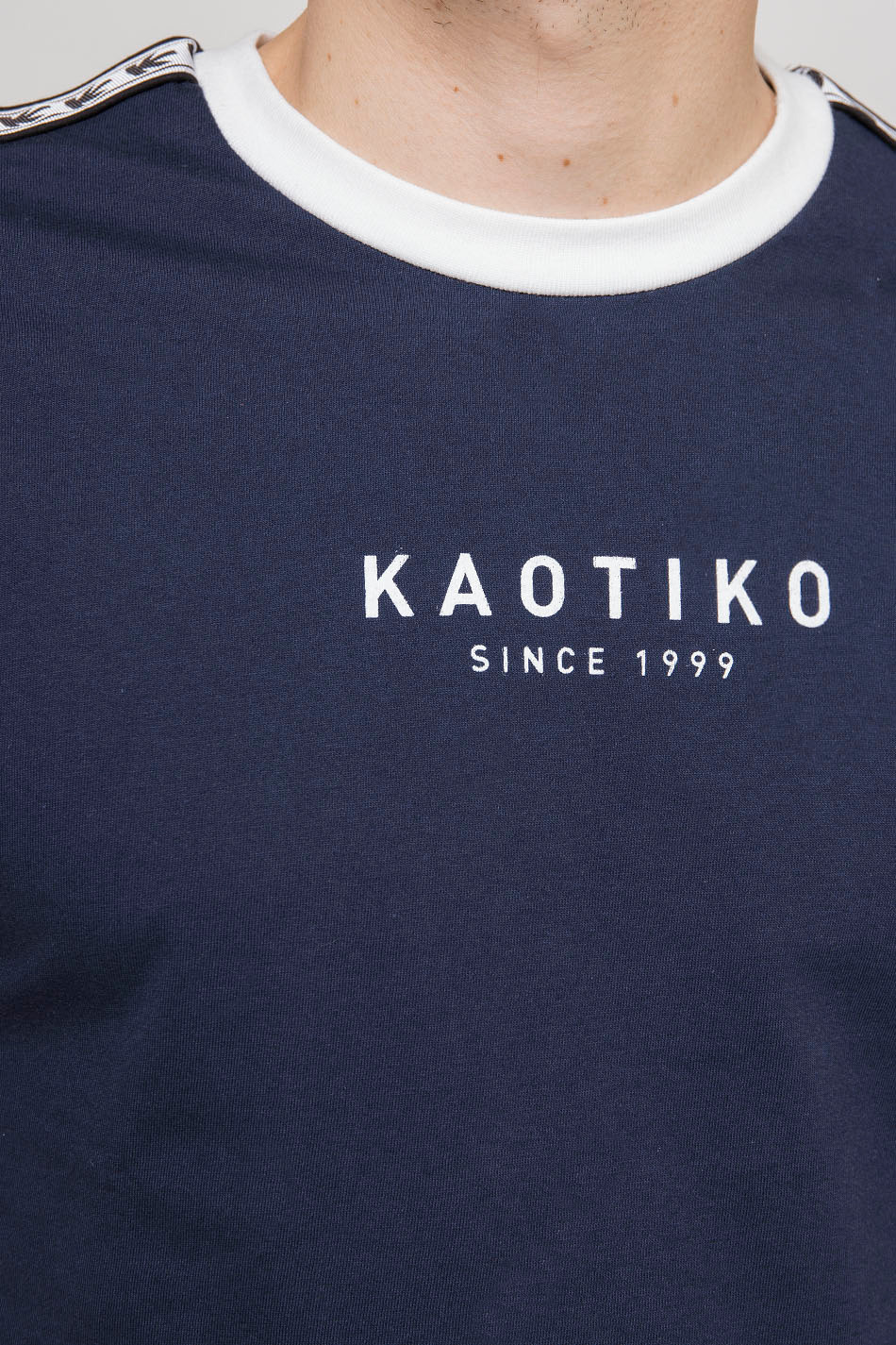 Navy T-Shirt With Bands