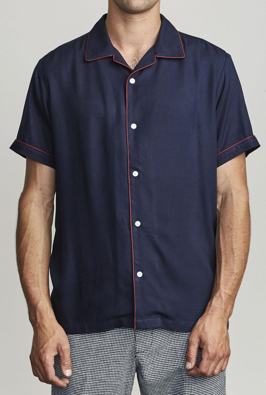 RVCA That'll Do Hi Grade II Button-Up Navy Shirt