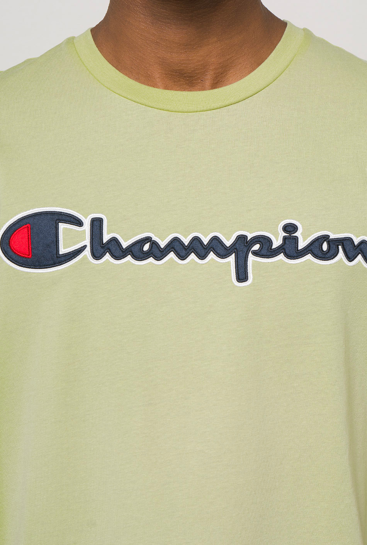 Champion Script Logo Crew Neck Green