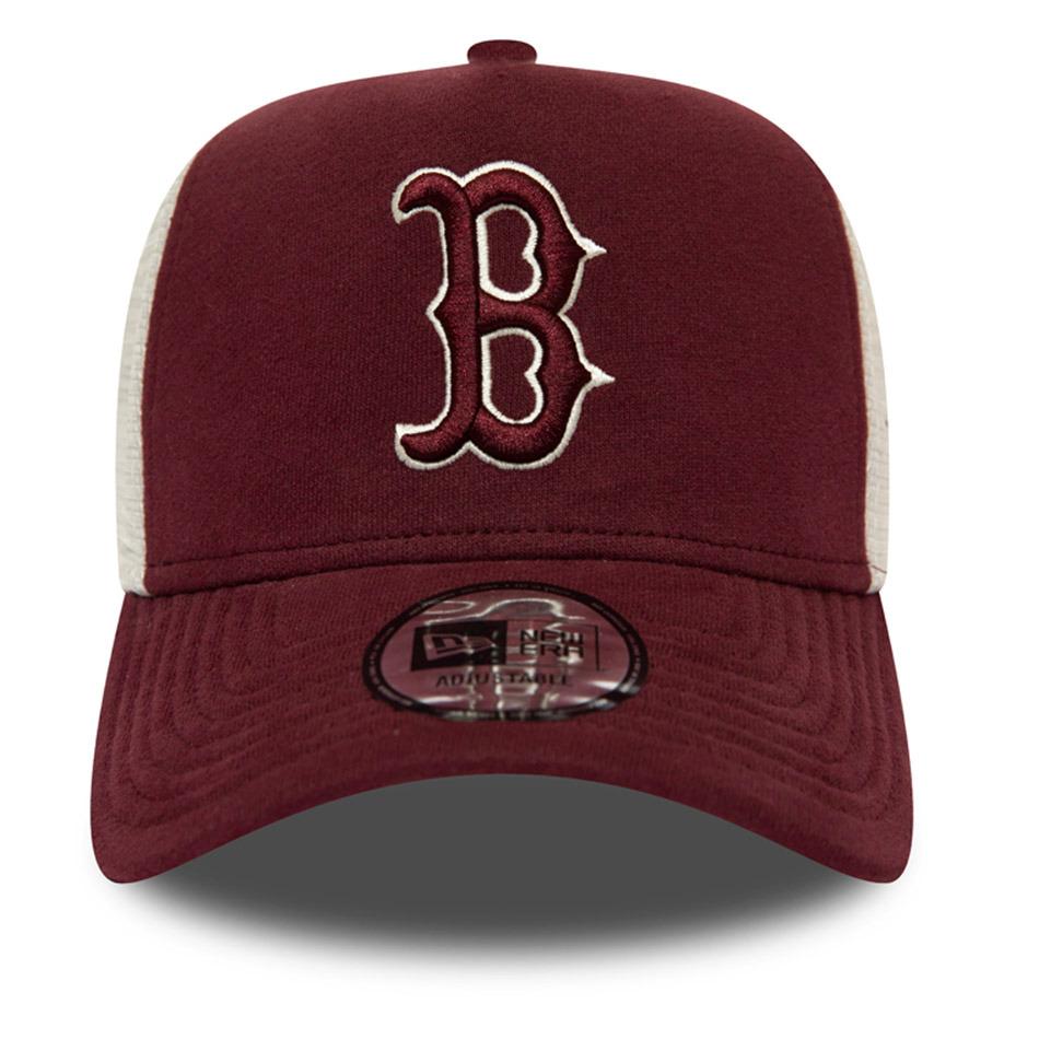 New Era Boston Red Sox Maroon A-Frame Trucker