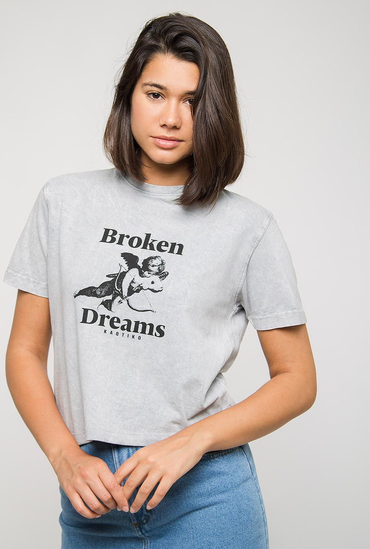Camiseta Broken Dreams Tie-Dye Gris