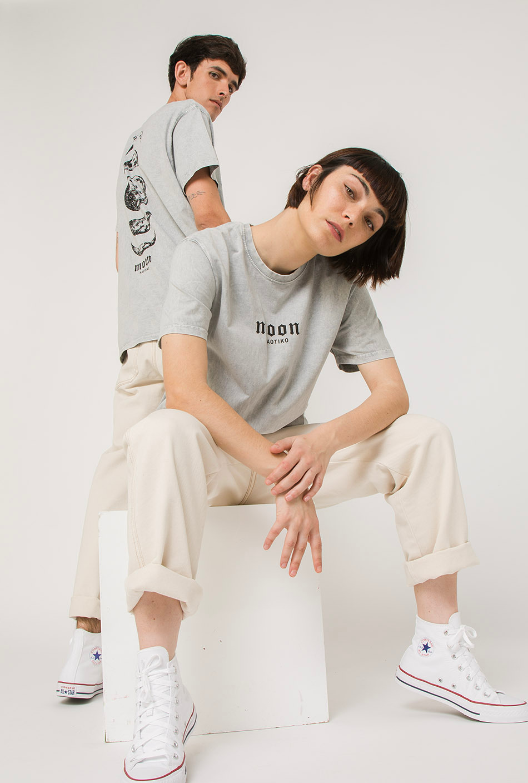 Venus Schnurbatik T-Shirt in Grau