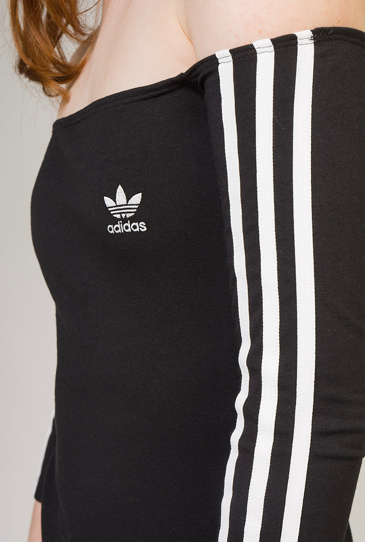 Adidas Off-the-Shoulder Dress Black
