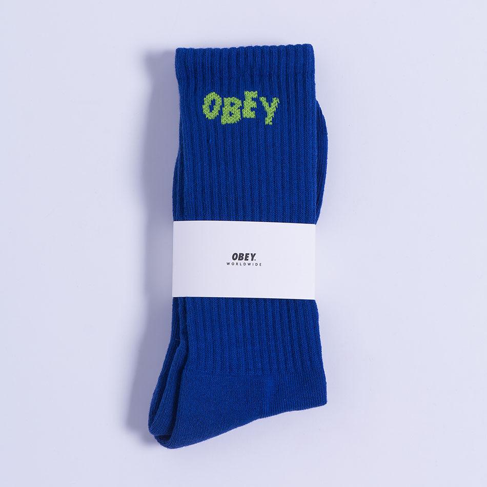 Obey Jumbled Socks Ultramarine/Lime