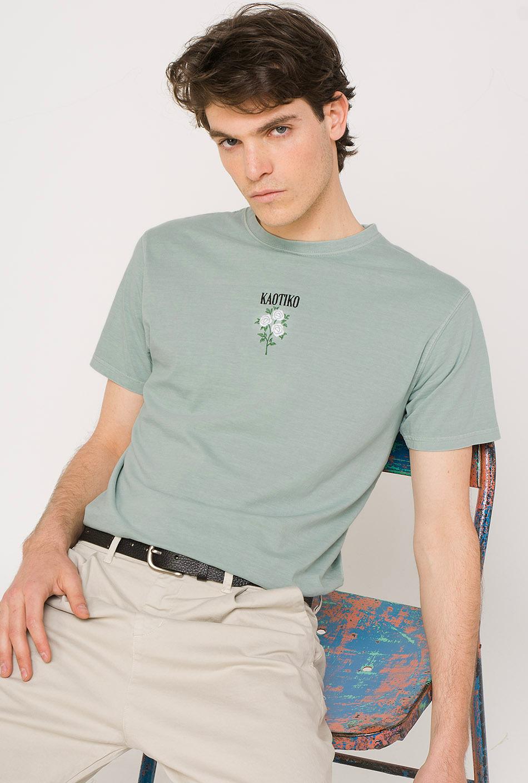 Roses Tie-Dye Green T-Shirt