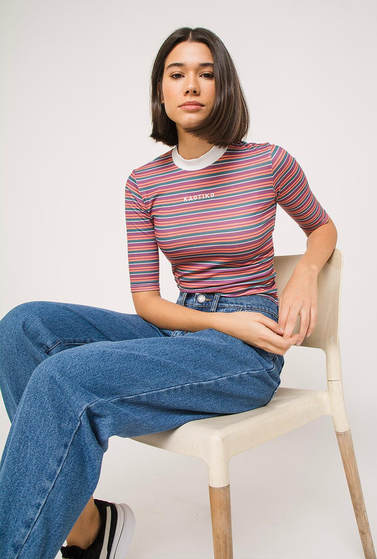 Kaotiko Multicolour Stripes T-Shirt
