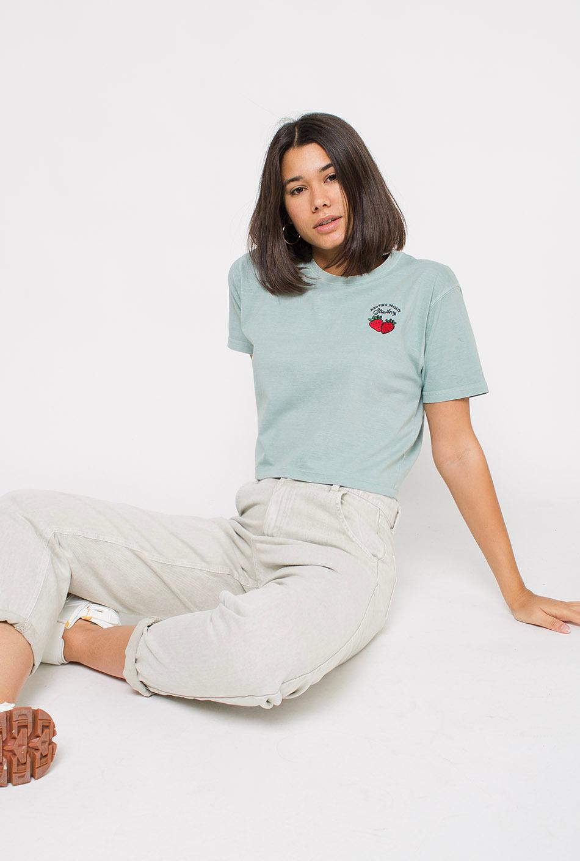 Camiseta Tie-Dye Strawberry Verde