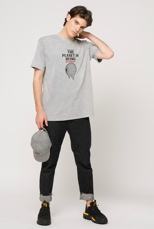 Let's React Tie-dye Grey T-Shirt