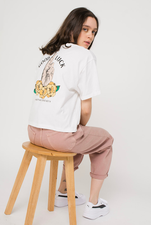 Camiseta Tie-Dye Good Luck Blanca