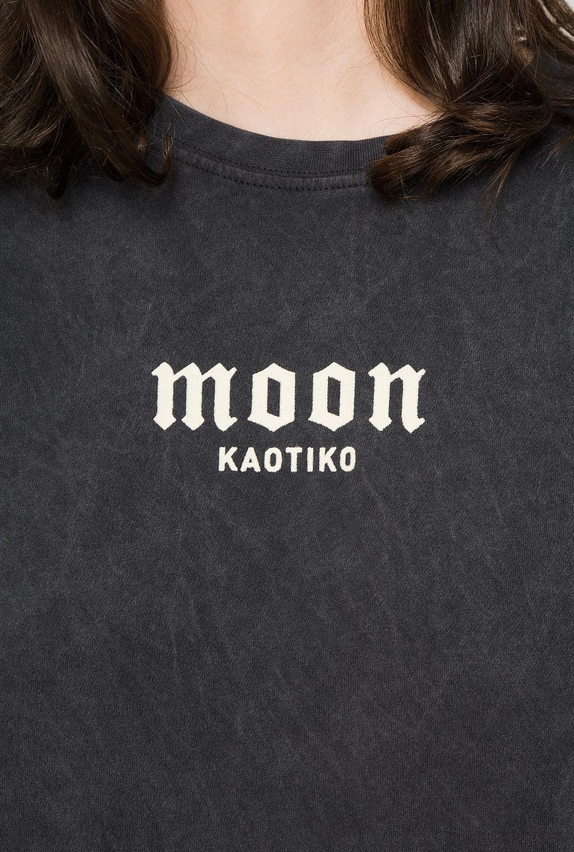 Camiseta Tie-dye Moon Negra