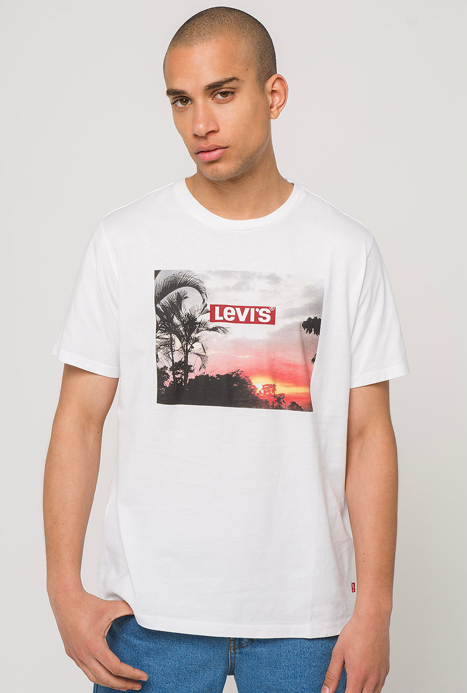 Levi's Graphic Tee Set in White