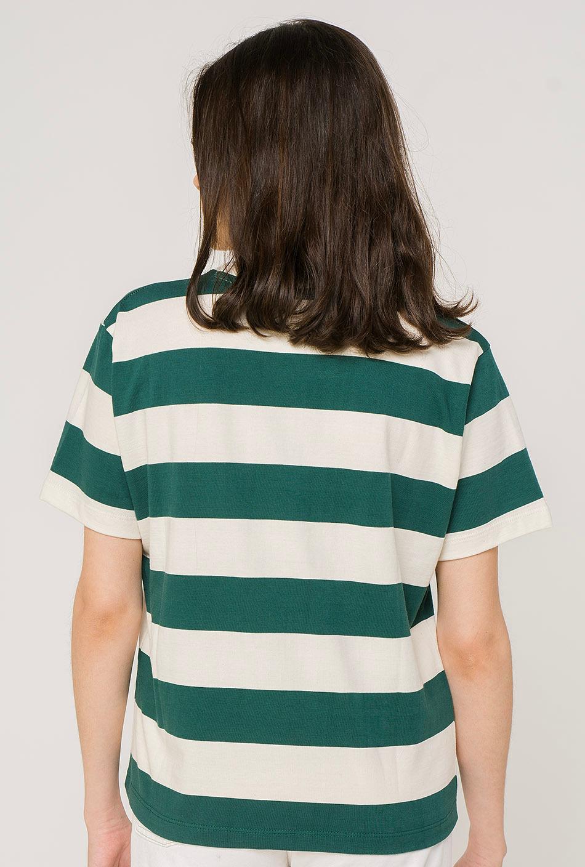 Camiseta Heart Rayas Verde