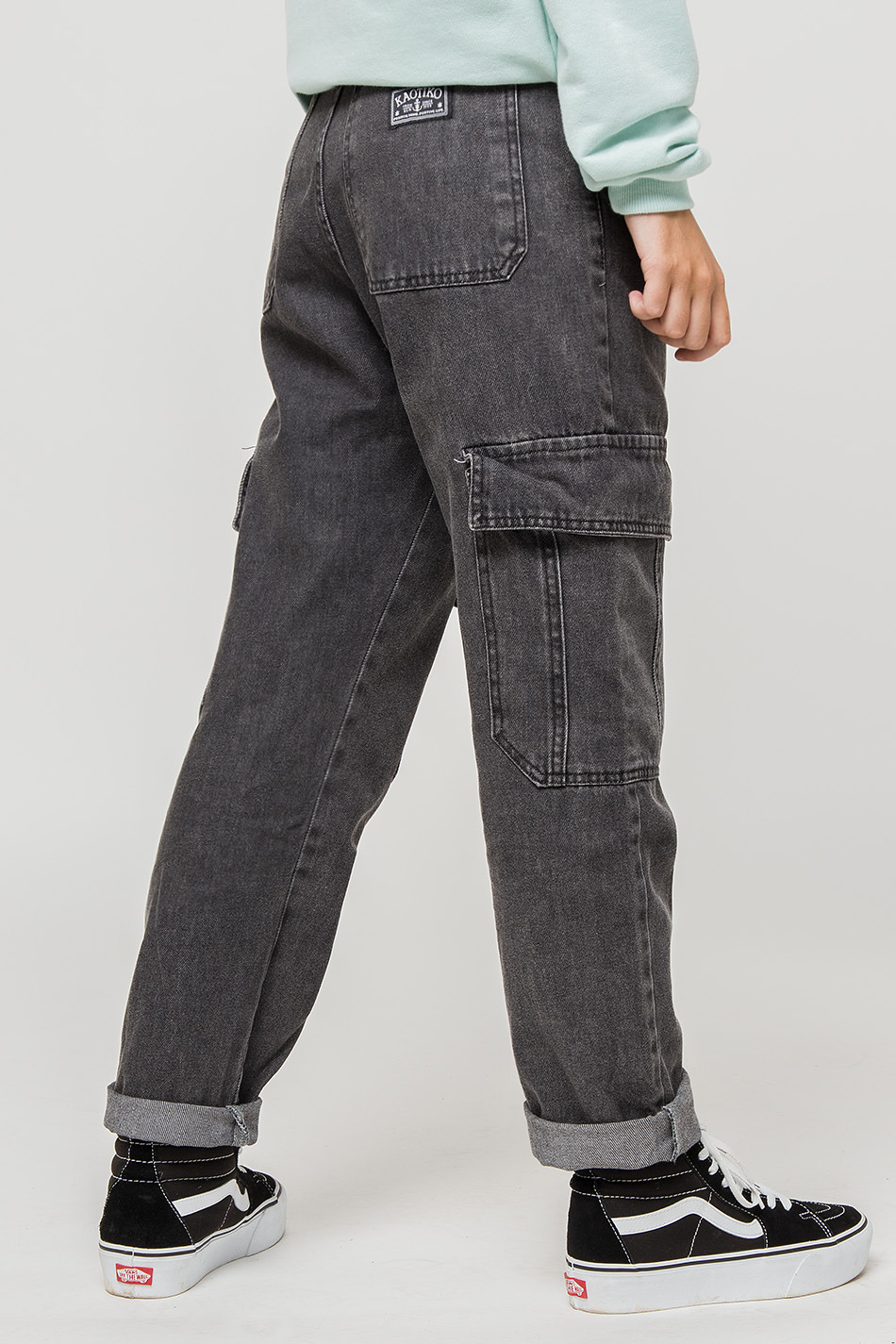 New York Black Denim Trousers