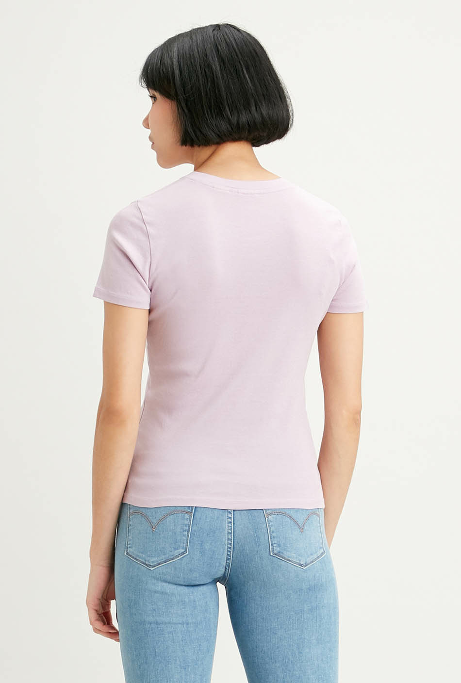 T-shirt Levi's RIB BABY TEE LAVANDER FROST