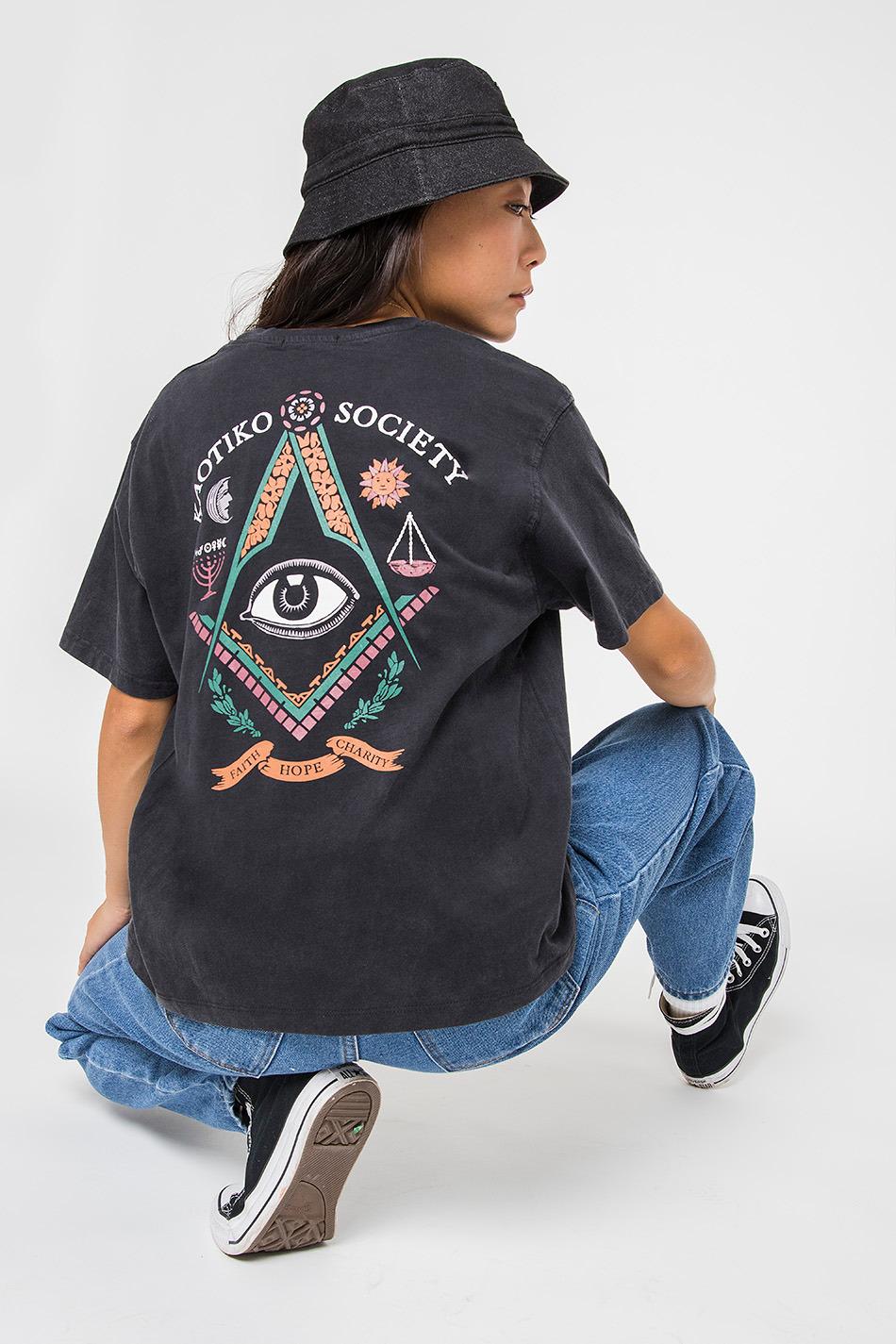 Tie Dye Mason Black T-shirt