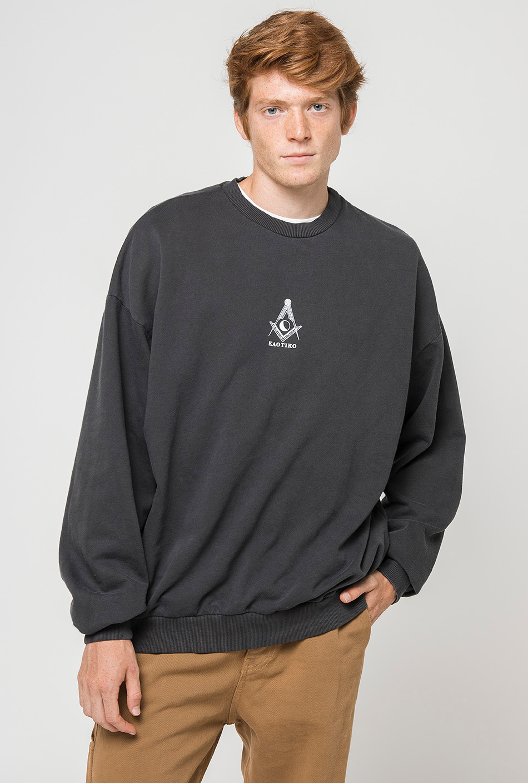 Tie Dye Mason Black Sweatshirt