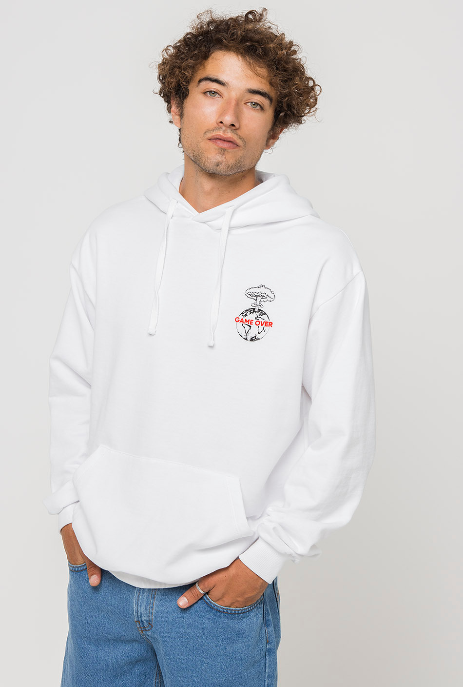 Game Over white hoodie