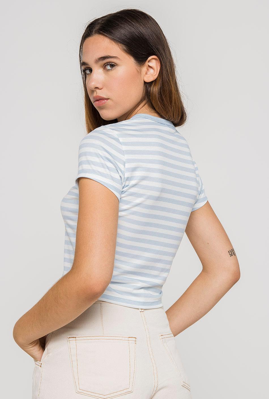 Camiseta Rayas Celeste