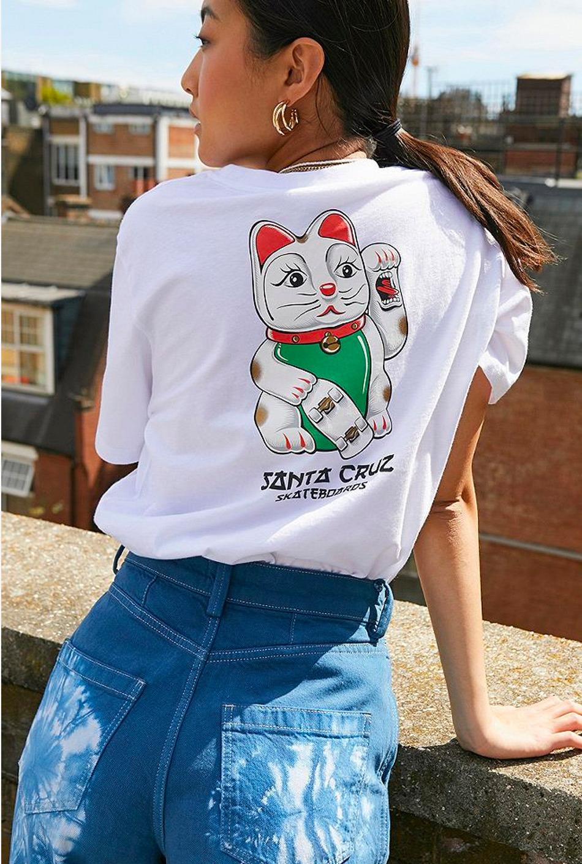 Camiseta Santa Cruz Lucky Cat