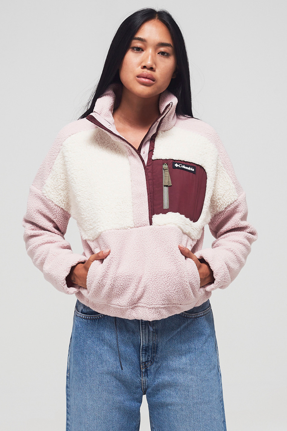 Columbia Lodge Sherpa Pink Fleece