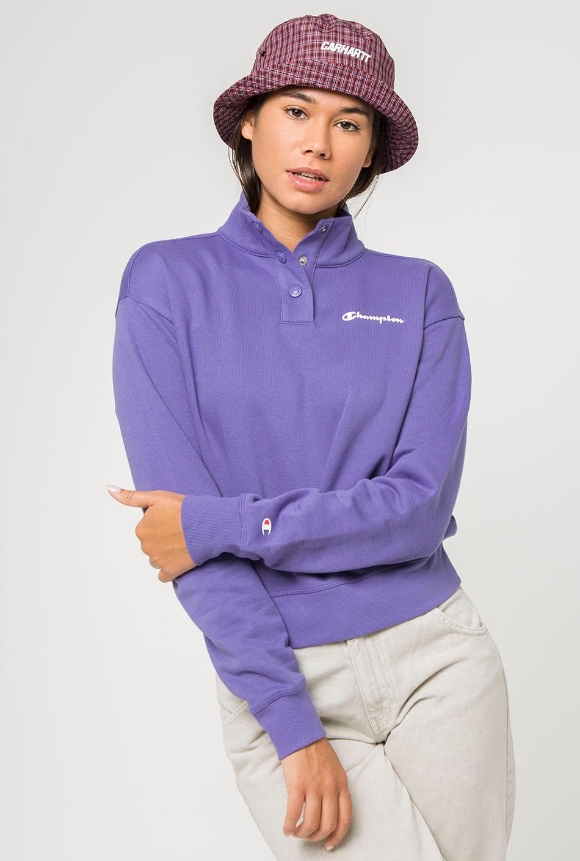 Sweatshirt champion lilac buttons